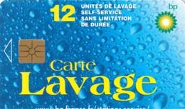 # Carte A Puce Portemonnaie Lavage Mobil 19 - BP Logo Soleil 12u Gem  -tres Bon Etat- - Frankrijk