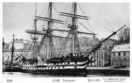 """¤¤   -   Carte-Photo Du Bateau De Transport  """" LOIRE """"   -  Voilier   -  ¤¤ - Voiliers"""
