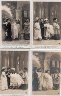 Thèmes > Enfants > Scènes & Paysages Le Baptême Sazerac Serie N°4 3560 LOT DE 4 CARTES - Scènes & Paysages