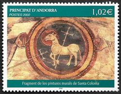 ANDORRE  2002 -  YT 574 -  Peintures Murales De L'église Santa Coloma - NEUF**  - Cote  4e - Andorre Français