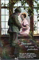 """Original Color-Feldpost-Karte,Militär,Romantik 1.WK """"Dein Will Ich Stets Gedenken"""" Als Feldpost Gelaufen 9.8.17 HANNOVER - Guerre 1914-18"""