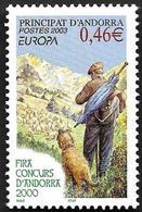 ANDORRE  2003 -  YT 580 - Affiche - NEUF**  - Cote  2e - Andorre Français