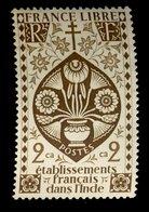 Etablissement Français Dans L'Inde - Neuf ** - Y&T N° ?? France Libre 2 Caches - India (1892-1954)