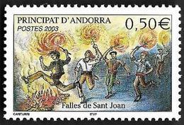 ANDORRE  2003 -  YT 581 -  Feux De La Saint Jean  - NEUF**  - Cote  2e - Andorre Français