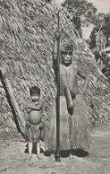 004847  Rio Amazonas - Jefe De La Tribu De Los Yaguas Con Su Hijo - Peru