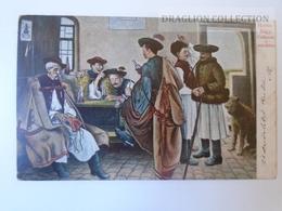 D160206  FOLKLORE COSTUMES - Trachten - Hungary- Hongrie - Hortobágy Csikósok A Csárdában PU 1906 - Costumes