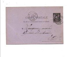 ENTIER SAGE DE PARIS RUE BONAPARTE DU 16/11/1881 - Marcophilie (Lettres)