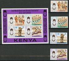 Kenya, Yvert 70/73+BF4, Scott 72/75+75a, MNH - Kenya (1963-...)