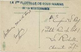 """1913- C P A De Toulon En F M  """" LA 1ère FLOTILLE DE SOUS-MARINS / DE LA MEDITERRANEE """" - Postmark Collection (Covers)"""