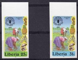 Liberia 1985, FAO, Mushrooms, Rice, 2val IMPERFORATED - Contro La Fame