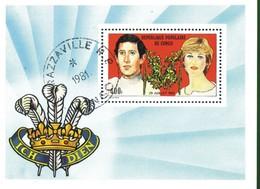 Rep. Del Congo Foglietto:1981 Matrimonio Del Principe Carlo E Lady Diana Spencer - Congo - Brazzaville