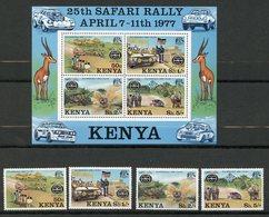Kenya, Yvert 74/77+BF5, Scott 76/79+79a, MNH - Kenya (1963-...)