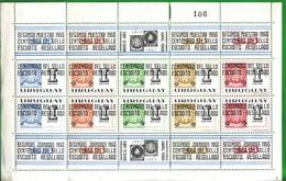 URUGUAY 1966-2°anniversario Della Mostra Filatelica River Plate1965sovrastampati - Uruguay