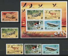 Kenya, Yvert 86/90+BF9, Scott 89/93+93a, MNH - Kenya (1963-...)