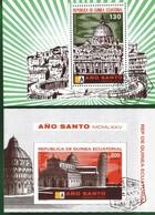 EQUATORIAL GUINEA 1974 - ANNO SANTO - FOGLIETTI E. 130 + E.200. - Guinea Equatoriale