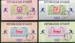 HAITI 1969 - MARATONETI OLIMPICI - 4 FOGLIETTI . - Haiti