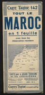 Map Carte Taride 142 Maroc Afrique Du Nord -  En 1 Feuille - 70X90cm Env - Fès Marrakech Meknès Tanger Etc - Geographical Maps