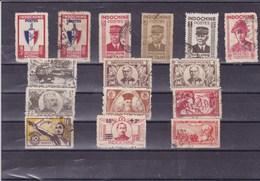 INDOCHINE : Y&T : Lot De 15 Timbres Oblitérés - Indochine (1889-1945)