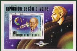 Costa D'Avorio Blocco 11 1978 Premi Nobel. - Costa D'Avorio (1960-...)
