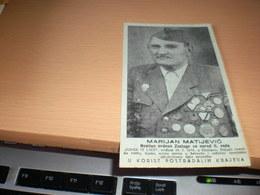 Marjan Matijevic Nosolac Ordena Zasluge Za Narod II Rea Junak Iz Like  Gracac - Croatia