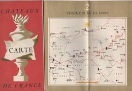 CHATEAUX  DE FRANCE - 1954 - CARTE DE FRANCE - - Maps