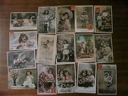 LOT DE 16 CARTES ENFANTS FANTAISIES - Fantaisies