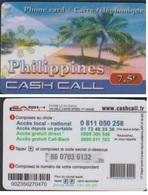 CASH CALL PHILIPPINES 2015 CARTE TELEPHONIQUE 7.5€ PREPAYEE - France