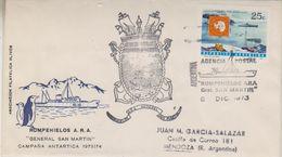 Argentina 1973 Ice Breaker San Martin Cover  Ca 8 Dic 1973 (39768) - Poolshepen & Ijsbrekers