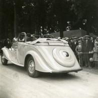 France Belle Voiture Decapotable Spectateurs Ancienne Photo 1935 - Automobiles