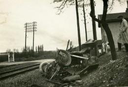 France Mémoires D'une Dépanneuse Accident De Voiture Chemin De Fer Ancienne Photo 1935 - Cars