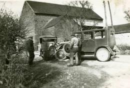 France Mémoires D'une Dépanneuse Accident De 2 Voitures Ancienne Photo 1935 - Cars