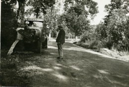 France Mémoires D'une Dépanneuse Accident De Camion Shell Ancienne Photo 1935 - Cars