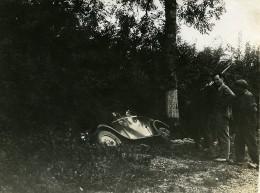 France Mémoires D'une Dépanneuse Accident De Voiture Fosse Ancienne Photo 1935 - Automobiles