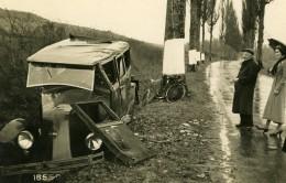France Mémoires D'une Dépanneuse Accident De Voiture Renault? Ancienne Photo 1935 - Cars