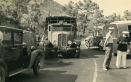 France Mémoires D'une Dépanneuse Accident De Voiture Camion Ancienne Photo 1935 - Cars