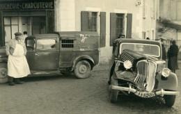France Mémoires D'une Dépanneuse Accident De Voiture Boucherie Mouillon Ancienne Photo 1935 - Cars