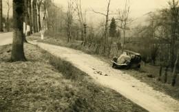 France Mémoires D'une Dépanneuse Accident De Voiture Fosse Ancienne Photo 1935 - Cars