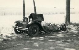 France Mémoires D'une Dépanneuse Accident De Voiture Epave Ancienne Photo 1935 - Cars