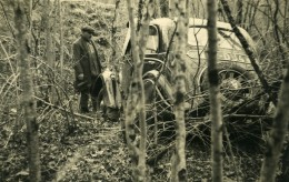 France Mémoires D'une Dépanneuse Accident De Voiture Peugeot? Ancienne Photo 1935 - Cars