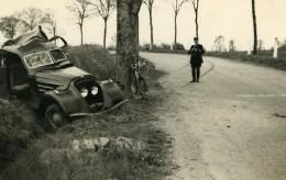 France Mémoires D'une Dépanneuse Accident De Voiture Peugeot? Fosse Ancienne Photo 1935 - Cars