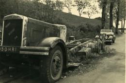 France Mémoires D'une Dépanneuse Accident De Camion Berliet Ancienne Photo 1935 - Cars