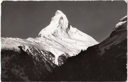 Zermatt Das Matterhorn 4478 M, Switzerland, Suisse, Used Real Photo Postcard [21564] - VS Valais
