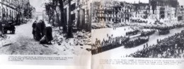WWII Pologne Varsovie En Ruines Defile Militaire Ancienne Photo 1945 - Guerre, Militaire