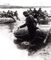 WWII Infanterie Allemande En Route Pour Moscou Canots Pneumatiques Ancienne Photo 1941 - War, Military