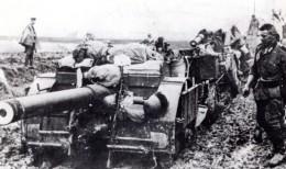 WWII Russie Front De L'Est Canon Automoteur Allemand Embourbe Ancienne Photo 1942 - War, Military