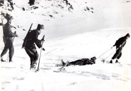 WWII Armee Suisse Entrainement Militaire En Montagne Ancienne Photo 1939 - War, Military
