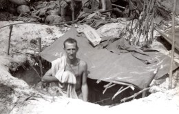 WWII Los Negros RAAF EG Wright Cuisinier Australien De Rosewood Ancienne Photo 1944 - War, Military