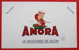 Ancien Buvard D'Ecole PUBLICITAIRE AMORA La Moutarde De DIJON  Illustrateur - Buvards, Protège-cahiers Illustrés