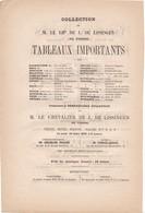 VENTE   A  DROUOT   1876 ,,,,,  COLLECTION  DE M LE  CHEVALIER DE J. DE  LISSINGEN  De VIENNE ,,,,tbe,,,,,REMBRANDT _ - Non Classés