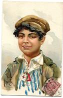 CPA HOMME Dessin ( époque 1900) ITALIE - Hommes